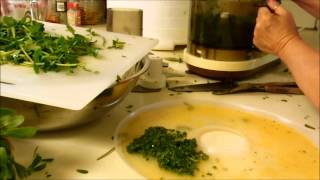 Drying purslane two ways