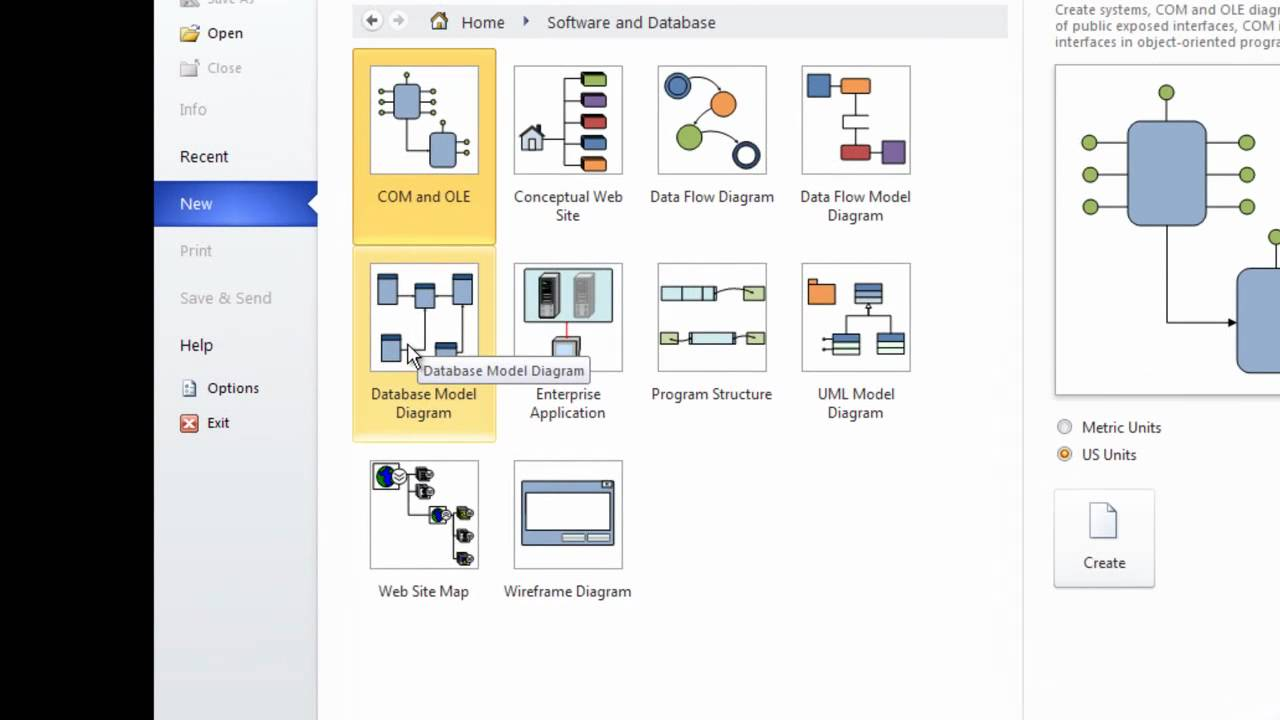 Er diagram using ms visio 10 part1 youtube ccuart Image collections