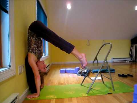 Adho Mukha Vrksasana (handstand, downward facing tree pose) modification