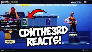 CDNTHE3RD REACTS TO GETTING HIS OWN FORTNITE SKIN!!! (Fortnite Battle Royale)