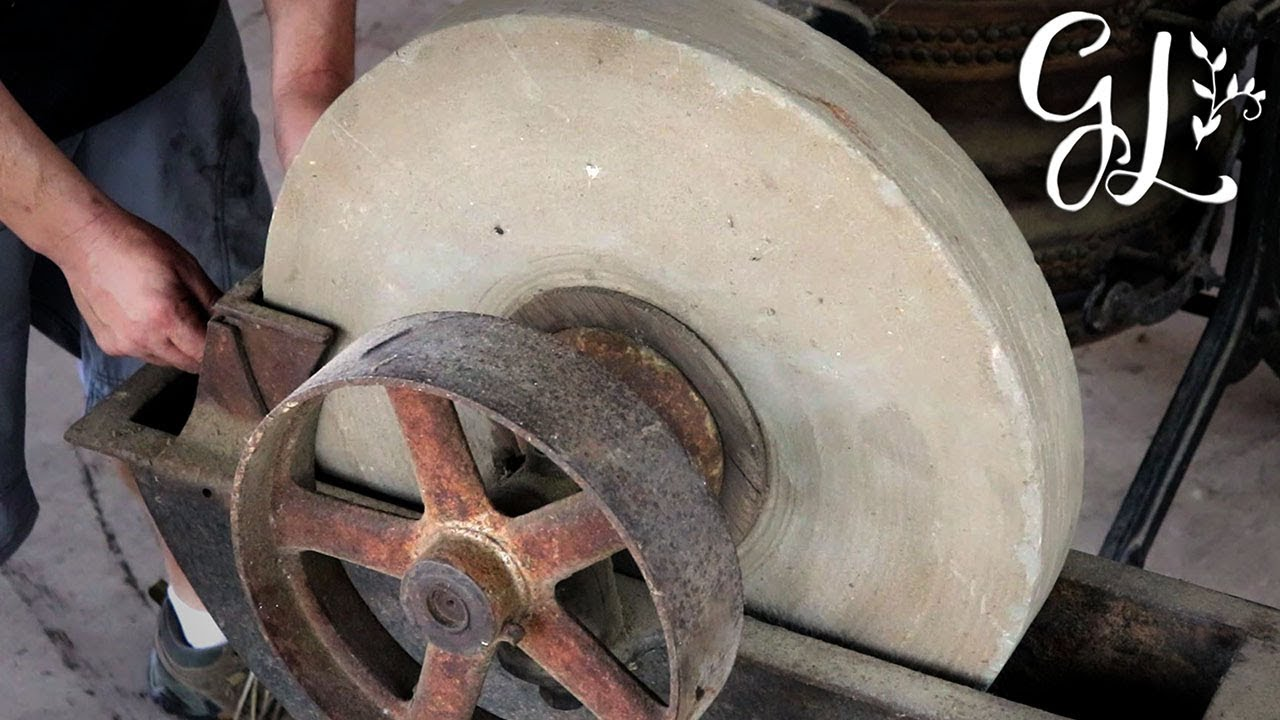 Putting The Antique Grind Stone Back To Work Restoring An Entire Blacksmithing Series
