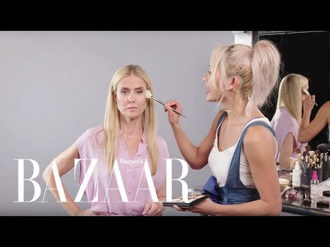 A 50 Year Old Tries an Instagram Makeup Routine | The Younger Games | Harper's BAZAAR