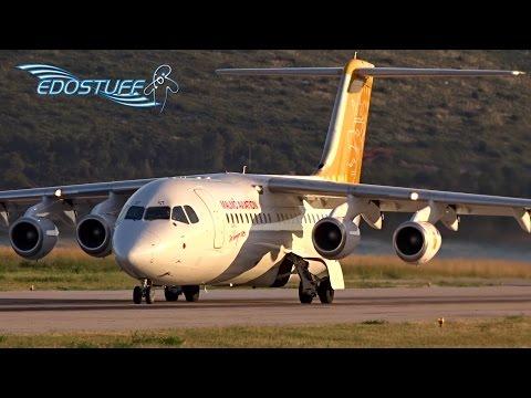 Malmo Aviation - British Aerospace Avro 146-RJ100 SE-DST - Takeoff from Split Airport LDSP/SPU