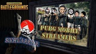 Sikhwarrior Vs Pubg Mobile Streamers     Carryislive, Gunshot, Dynamo Gaming, Da