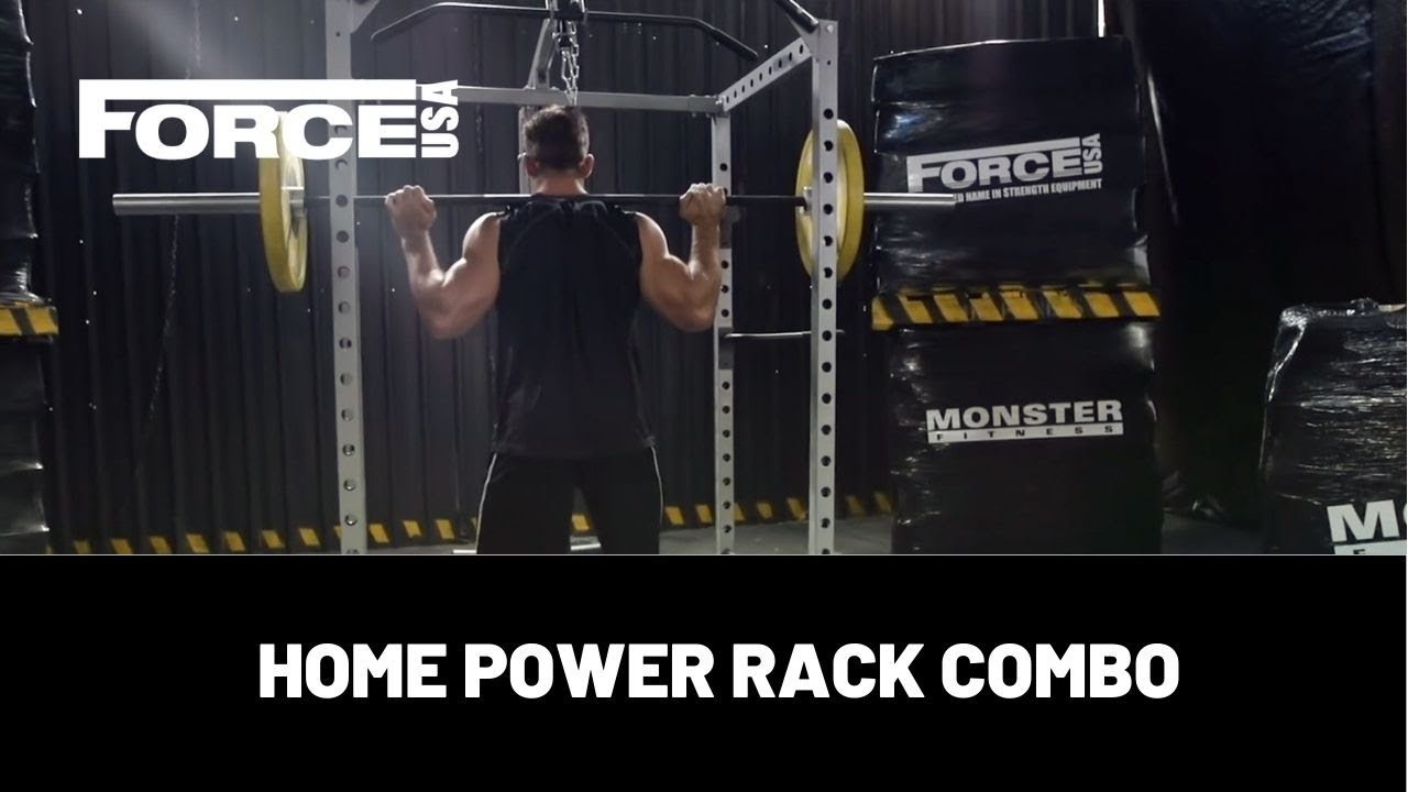 FORCE USA - HOME POWER RACK - CAGE - F-HPR - YouTube