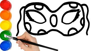 Coloring Ladybug Mask Drawing for kids and Painting for toddlers
