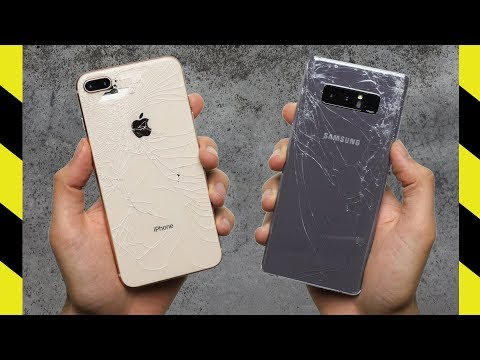 Thumbnail: iPhone 8 Plus vs Galaxy Note 8 Drop Test!