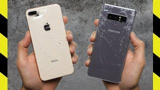 iPhone 8 Plus vs Galaxy Note 8 Drop Test!