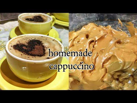 كابوتشينو منزلي مثل المقاهي ب3مكونات فقط و في 3 دقائقHomemade Cappuccino