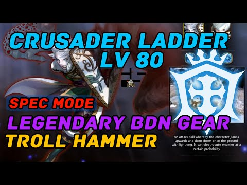 Dragon Nest PvP : Crusader Ladder Lv. 80 : L BDN Gear Troll Hammer Spec Mode