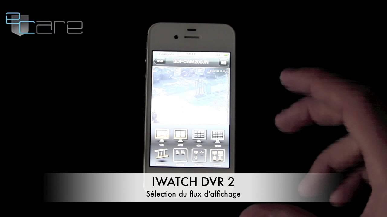 application iphone surveillance maison