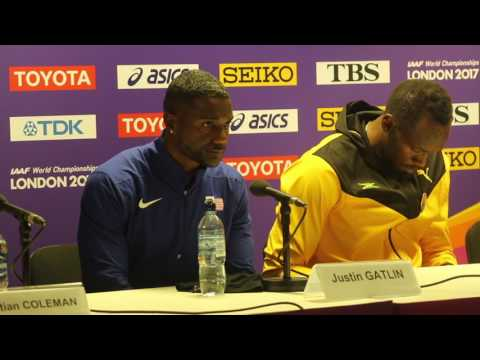 London 2017 Men's 100m Post Race Press Conference