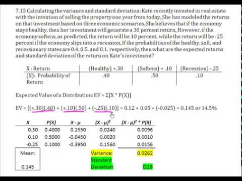 Discrete distribution calculate expected value of investment kristen macwilliams fidelity investments