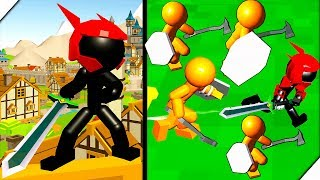 СТИКМЕН СУПЕР РЫЦАРЬ - Игра Стикмен Драка на Мечах 3D. Stickman Sword Fight 3D. Стикмен игра