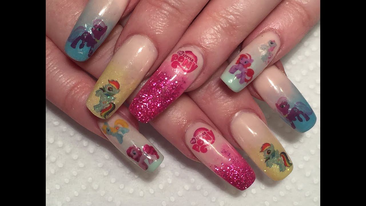 Acrylic Nails My Little Pony Water Decals Kazcreations Review You