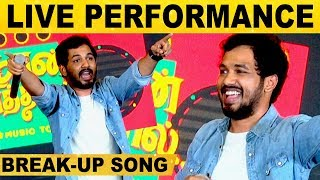 HipHop Adhi's LIVE Performance | Break-Up Song | NaanSirithal 1st Single EA