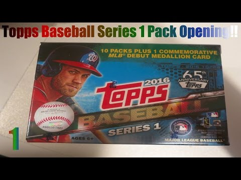 Topps 2016 Series 1 Baseball Cards Pack Opening!