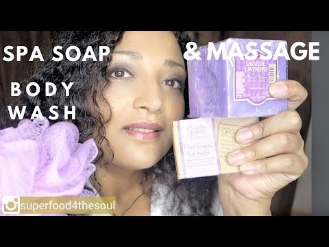 Spa Soap treatment 💆‍♀️ face and body ASMR wash & massage Salon 💆‍♀️English soap VS French
