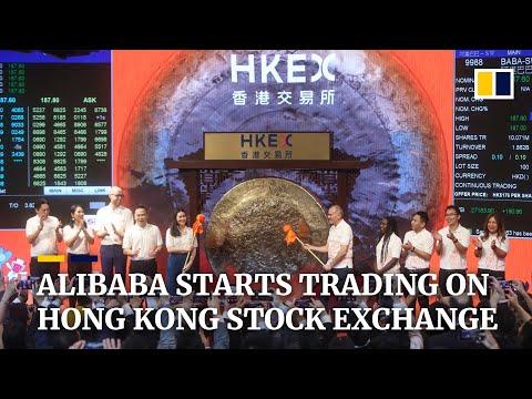 Chinese E-commerce Giant Alibaba Starts Trading On Hong Kong Stock Exchange