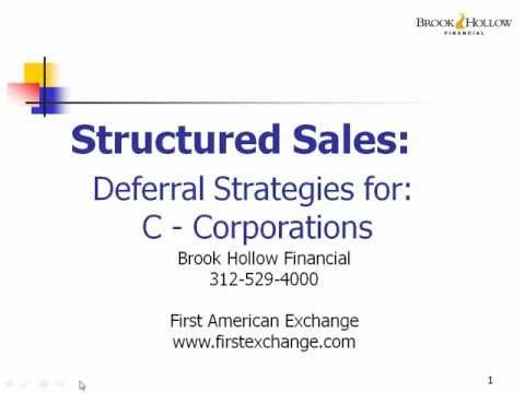 Tax Deferral and Growth Strategies for Sellers of a C Corporation