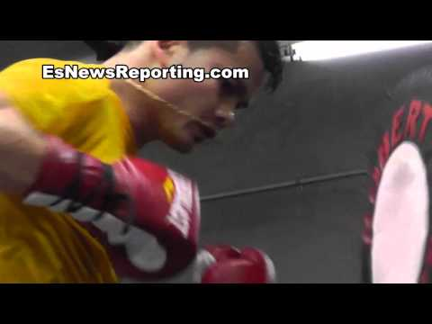 pelos garcia on sparring valero and maidana - EsNews