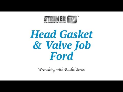 Ford Tractor Head Gasket Replacement and Valve Job