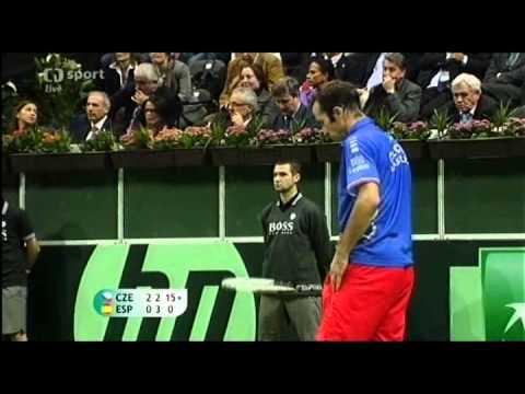 Davis Cup 2012 - Finále Praha - Poslední zápas Štěpánek vs. Almagro - 2/3
