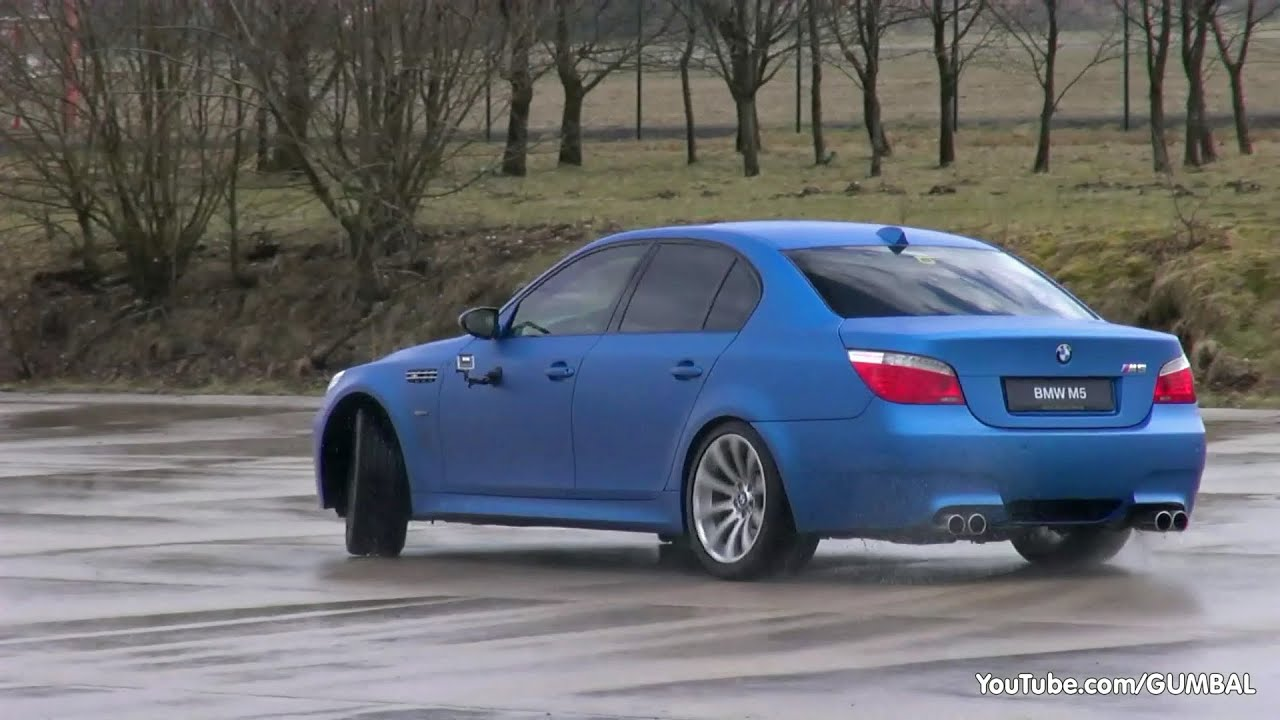 drift fun in a bmw e60 m5 w eisenmann race exhaust youtube. Black Bedroom Furniture Sets. Home Design Ideas