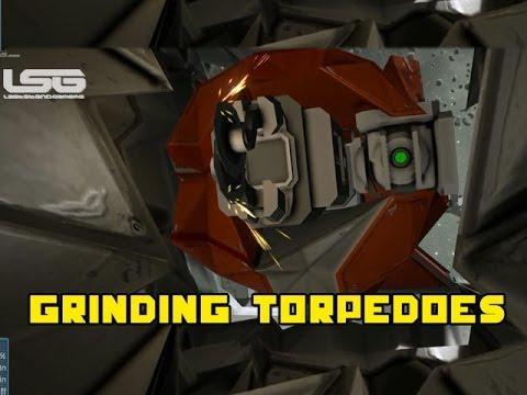 space engineers grinding torpedoes large ship grinder