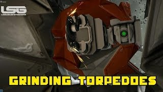 Space Engineers - Grinding Torpedoes Large Ship Grinder Hull Breach