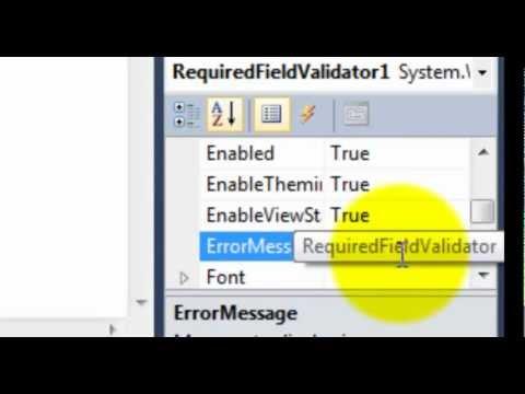ASP.NET - Validation Controls