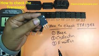 How to Check NPN and PNP Transistors? how to find out base,collector,emitter? electronics