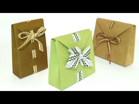Easy Origami gift bags. Perfect gift bag - ANY SIZE! How to wrap a present.
