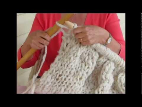 Introduction To Mega Knitting Pt 1 Using Knitting Needles With