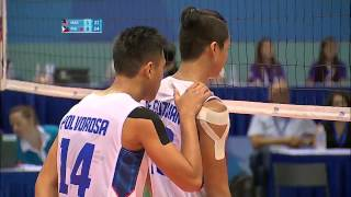 PHILIPPINES MEN'S VOLLEYBALL WON THE 2ND SET ON A SCORING ERROR IN SEA GAMES 2015