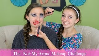 The Not-My-Arms Makeup Challenge | Brooklyn and Bailey Thumbnail