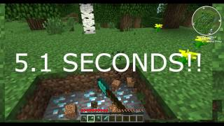 MINECRAFT - WORLD RECORD!! Fastest Diamond Find Ever!! (5.1 SECONDS!)