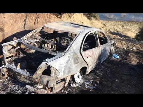 Report Tv - Vrasja në Vlorë, gjendet e djegur makina e autorit