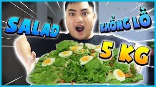 RIP113 thử nấu đĩa Salad khổng lồ nặng 5kg! RIP WITH THE PAN