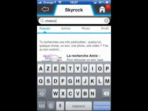 Iphone  Appli Skyrock Com En Bref Tech