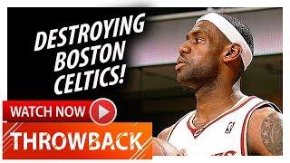 Throwback: MVP LeBron James Full Highlights vs Celtics (2009.04.12) - 29 Pts, 7 Ast in 3 Qtrs!