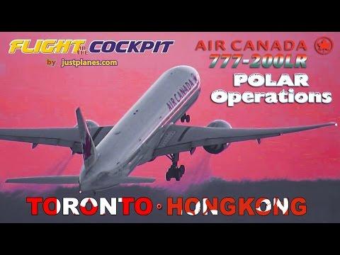 """AIR CANADA Cockpit 777-200LR """"POLAR OPS"""""""