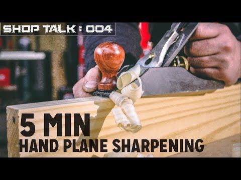 5 Minute Hand Plane Sharpening | Woodworking Tool Tip