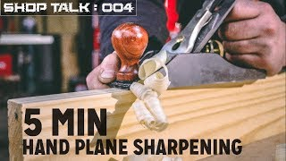 5 Minute Hand Plane Sharpening   Woodworking Tool Tip