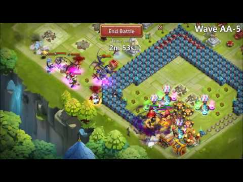 Castle Clash: HBM AA And AB With NO Scatter!
