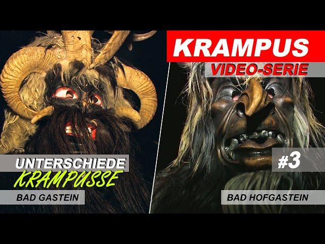 Gasteiner Krampuslauf, Unterschiede der Krampus Passen in Gastein, # 3 / 2018