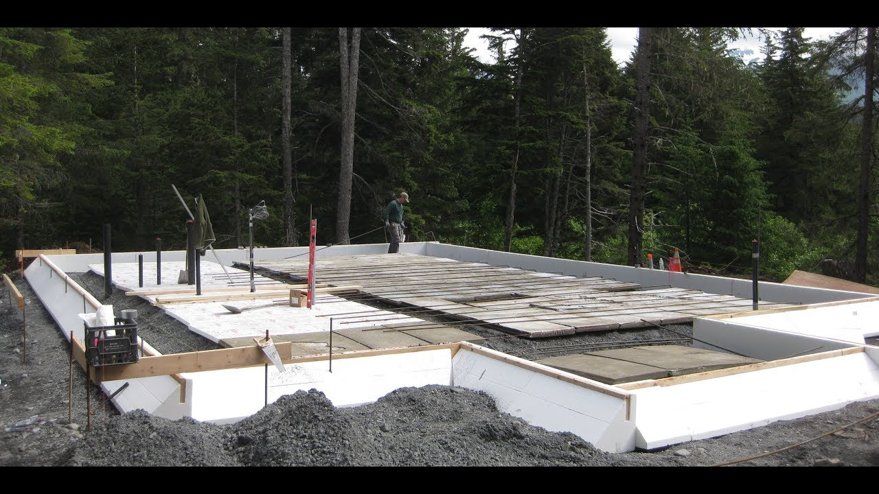 Mono slab ez form monolithic slab foundation in alaska for Monolithic pour foundation
