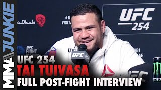 Tai Tuivasa apologizes for post-fight kick of Stefan Struve | UFC 254 post-fight interview