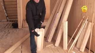 видео Дома из двойного бруса: особенности и технологии строительства