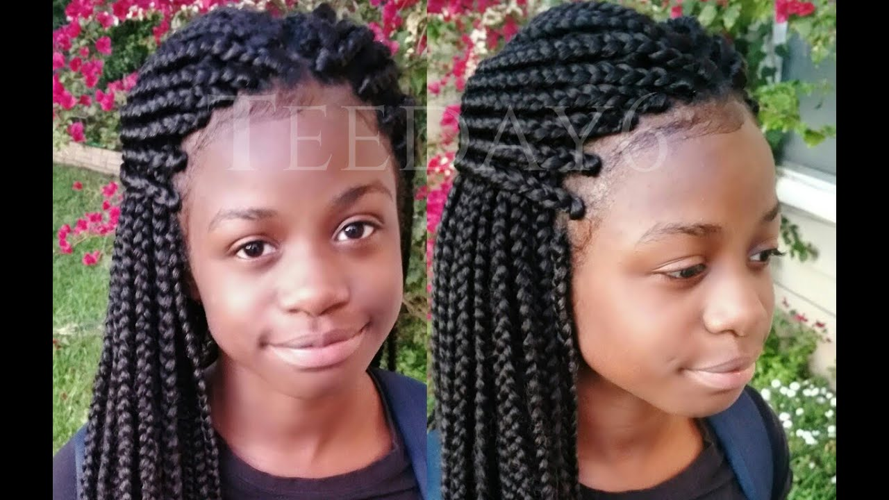 Crochet Box Braids Braid Pattern : Undetectable Crochet...Box Braids!! TEEDAY6 - YouTube